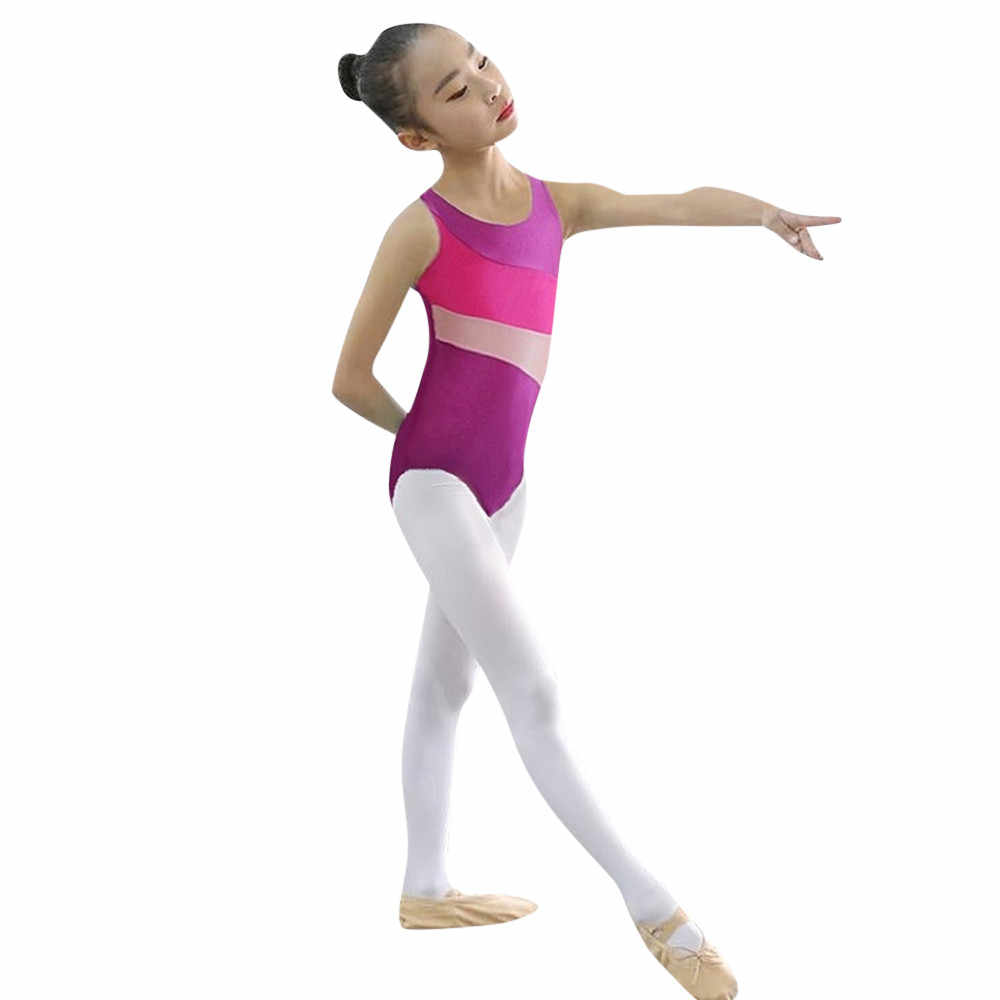 815352f0eb01 ... Baby Girls Gymnastics Leotards Ballet Dance Playsuit Kid Training  Costume Practicing Tights Jumpsuit Dancewear