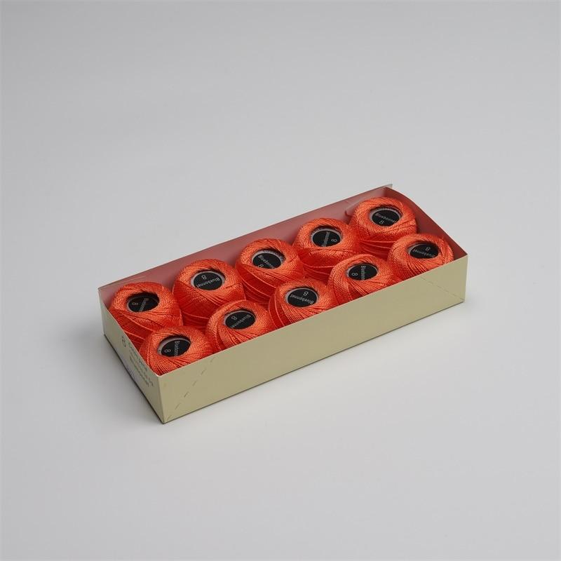 Размер 8 жемчужная хлопковая нить для вышивки крестиком 43 ярдов(5 грамм) на шарик Двойной Мерсеризованный длинный штапельный хлопок 10 шариков в цвет - Цвет: 900