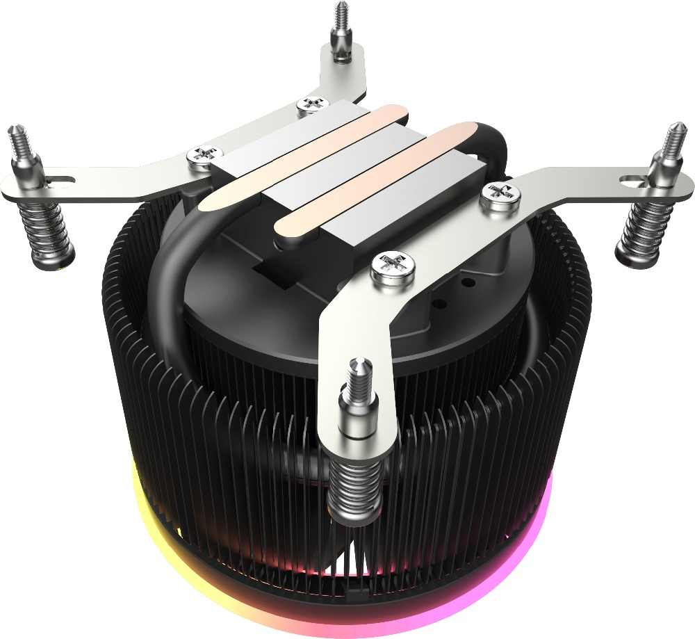 Aigo Bayangan Pro CPU RGB Cooler 4 Pin RGB LED PC CPU Fan Pendingin Radiator Aluminium Tembaga Heatsink Master Ram dingin Pipa
