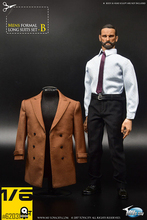 Brown/BLACK 1/6 Toys City TC 62031 Gentleman Mens Coat Formal Suit Set action Figure Clothing set F 12 Male Body Toy