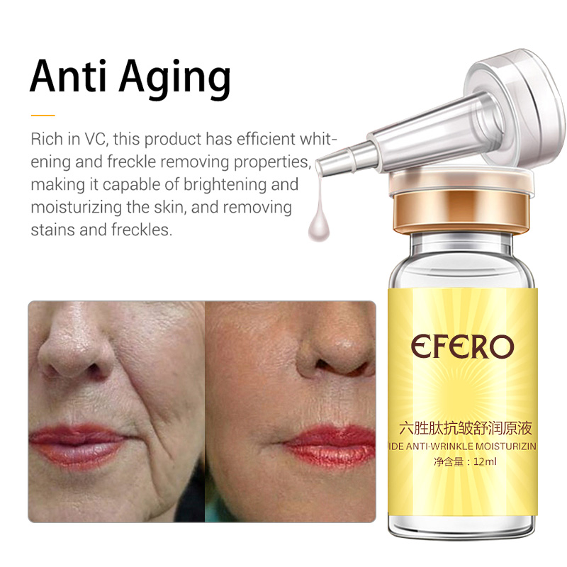 efero Argireline Essence Collagen Six Peptides Anti Wrinkle Serum for Face Cream Whitening Firming Skin Care Instantly Ageless 2