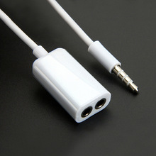 Factory Price 3.5mm 1 Male To 2 Female Audio Headphone Headset Earphone Splitter Cable music share with Lovers Friends NOV7