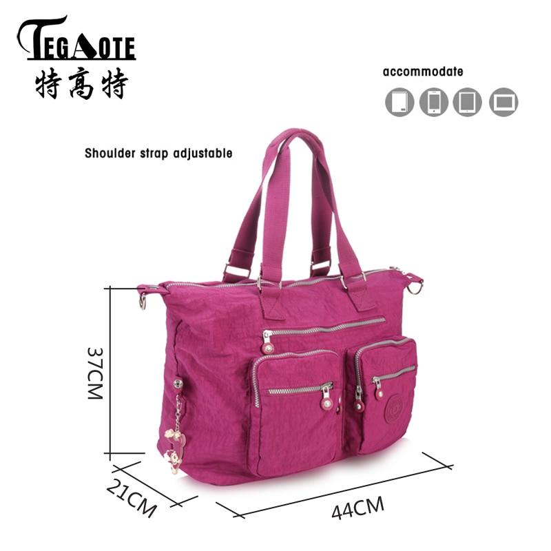 TEGAOTE Women Messenger Bag Ladies Crossbody Bags Waterproof handbags Nylon  Large Top handle Shoulder Bag Female Bolsa Feminina-in Shoulder Bags from  ... f8544ded61