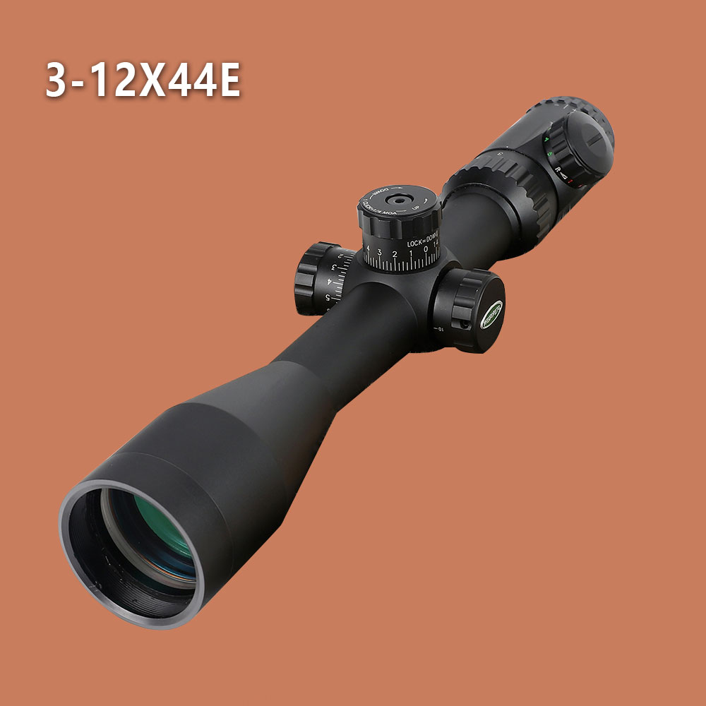 Tactical Riflescope WO 3-12X44 P4 Glass Etched Reticle RG Illuminated Optical Sights Side Parallax Rifle Scope with Rings ohhunt hl 3 12x44 sf hunting riflescope glass etched reticle rgb illuminated rifle scope side parallax tactical optics sight