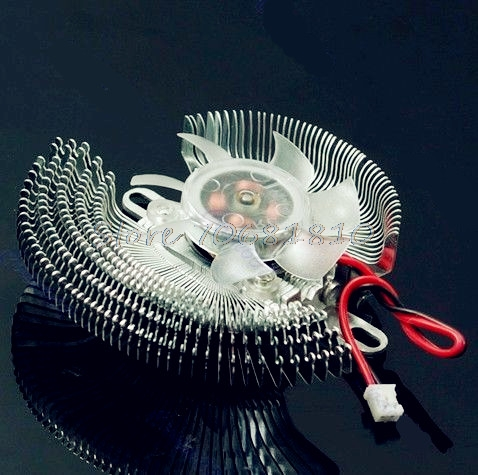 New 2 Pin Small QQ Computer Graphics Card Heatsinks Cooler Cooling Fan -R179 Drop Shipping free shipping diameter 75mm computer vga cooler video card fan for his r7 260x hd5870 5850 graphics card cooling