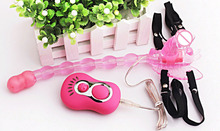 Butterfly Design Double Satisfaction 7 Speed Strap-On Dildo
