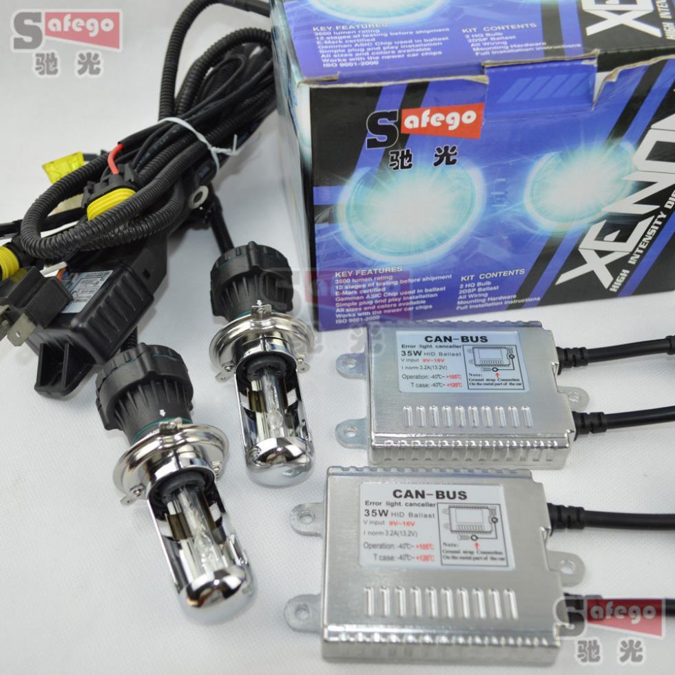 canbus xenon hid kit 12V 35W H4-3 xenon H4 Bixenon H4 kit hid hi lo 35W 6000K 8000K 4300K 5000K BI-XENON H4 Bi xenon H4 hid kit 4set 35w car xenon headlight h4 9003 hi lo bi xenon hid repalcement ac bulbs