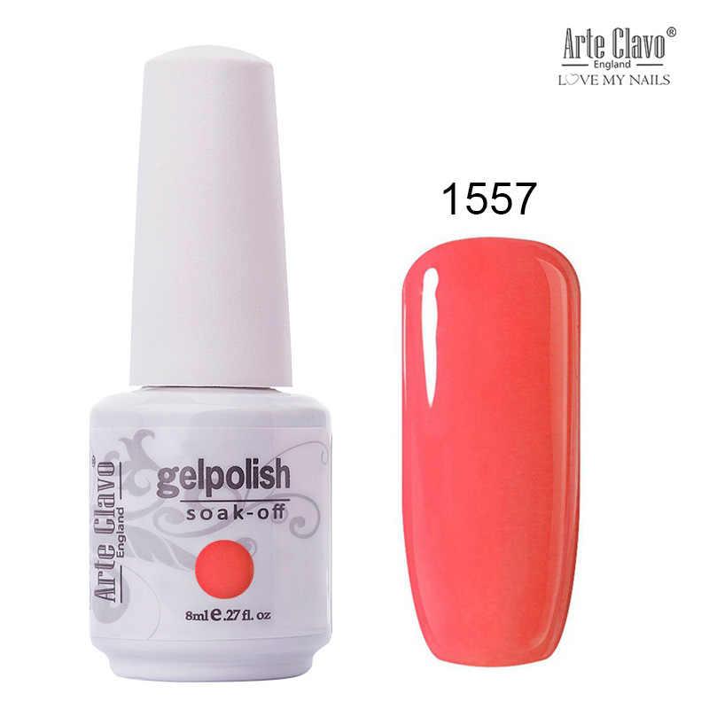 Arte Clavo 85 esmalte de uñas de Gel de colores LED UV Gel para uñas remoje laca de uñas en Gel brillo 8ML Nude rojo Clavo híbrido polaco