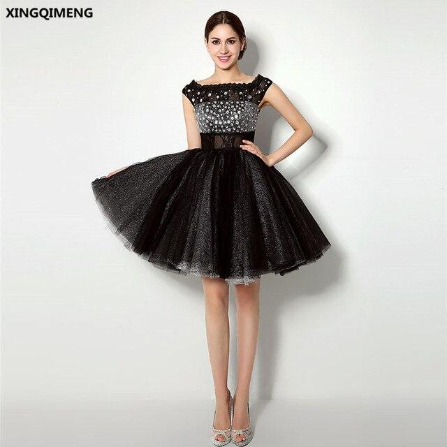 Vestido negro con brillantes