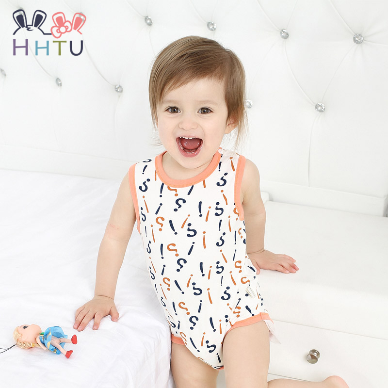 HHTU Baby Rompers Newborn Girls Boys Sleeveless Summer Clothing Set for Newborn Next Jumpsuits Rompers 100% Cotton hhtu brand baby rompers boys girls clothing quilted long sleeve jumpsuits newborn clothes boneless sewing children cotton winter