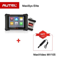 Autel MaxiSYS Elite Diagnostic Tool and ECU Programming Scanner with J2534 box Inspection Camera MV105 as gift Upgrade of MS908P