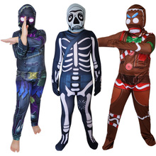 Skull Trooper Gingerbread Man Costume Carnival Halloween Christmas For Kids Birthday Party Cosplay Fancy Jumpsuits Mask