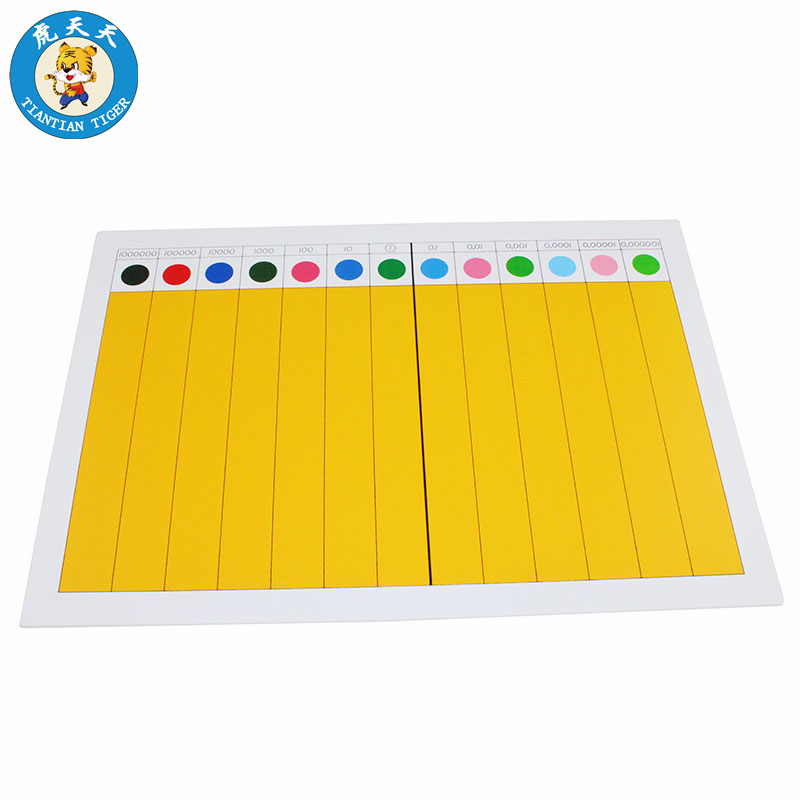 Montessori Mathematics Developing Wooden Toys Learning Education Toys For Children Decimal Fraction Board