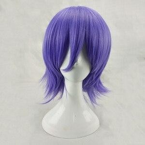 Image 2 - HAIRJOY человек Для женщин фиолетовый Косплэй парик короткий кудрявый Синтетический волос вечерние парики с челкой 7 Цвета в наличии БЕСПЛАТНАЯ ДОСТАВКА