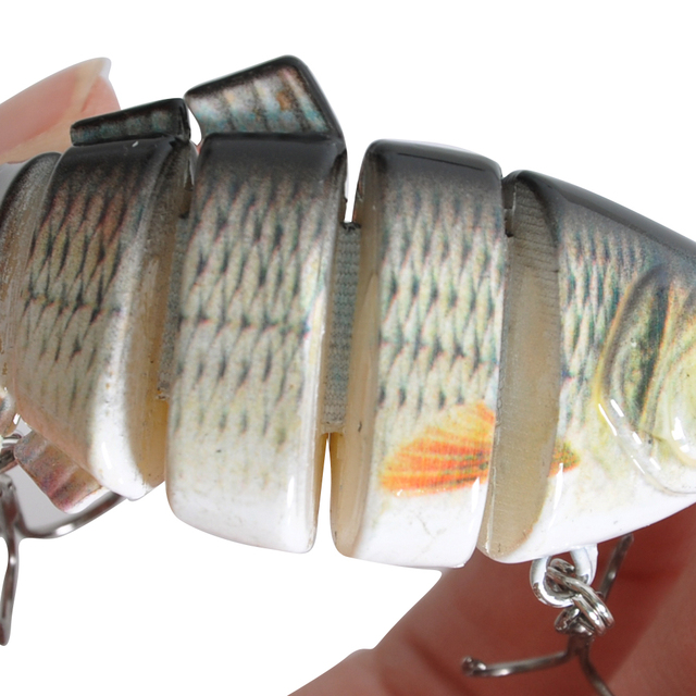 3D Eye 6 Segment Fishing Lures Soft
