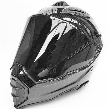 цена на Carbon Fiber print  mens motos downhill motorcycle helmet off road casco motocross helmet approved capacete motorcycle helmets