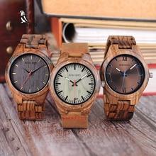 BOBO BIRD أحدث تصميم الساعات الخاصة للرجال ساعات الكوارتز ساعة اليد في صندوق هدايا خشبي W-Q05