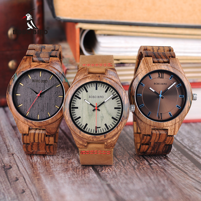 BOBO BIRD Wood Watch Men relogio masculino Special Design Timepieces Quartz Watches in Wooden Gifts Box W-Q05 DROP SHIPPING bobo bird watch men wooden metal quartz watches special design men s wristwatches in wooden box timepieces relogio masculino