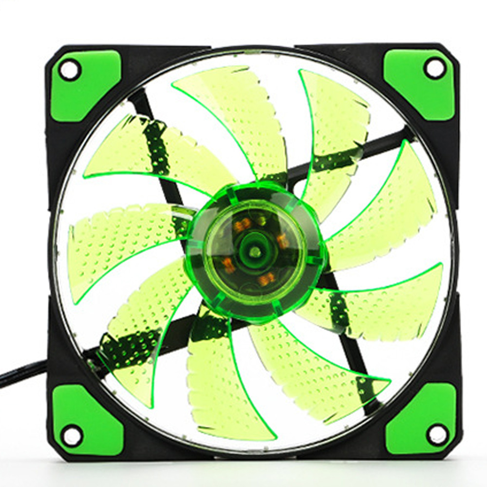Wholesale 15 LED Light Quite 120mm DC 12V 4Pin PC Computer Case Cooling Cool Fan Mod 6M3 Drop Shipping