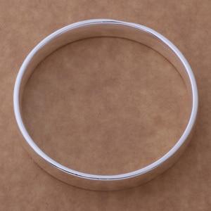 AB089 großhandel silber farbe farbe armband, silber farbe farbe mode schmuck Glatte runde armband/ghgaoyna csvalkca