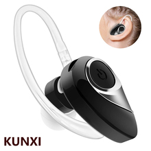 KUNXI Invisible Bluetooth Earphone Mini business Headphones Phone Sport Headset in Ear Buds Wireless Earpiece with Mic Use 8H mpow mbh17 bluetooth 4 0 headset earpiece business earphone with mic