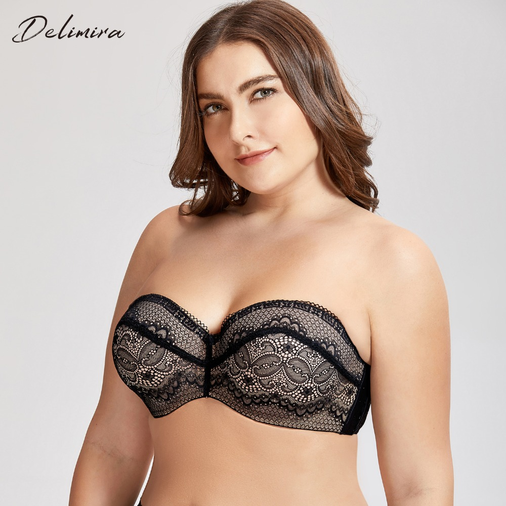 bc938ea2d8dfc Detail Feedback Questions about DELIMIRA Women s Slightly Padded Underwire  Convertible Multiway Lace Strapless Bra on Aliexpress.com