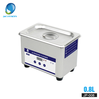 SKYMEN Digital Mini Ultrasonic Cleaner Metal Basket Washing Jewelry Watches Dental PCB CD 800ml 35W 40kHz Cleaner Bath Necklaces