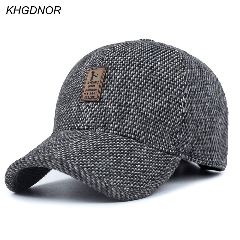 KHGDNOR Warme Verdickte Baseball Cap Mit Ohren für Männer Baumwolle Hut Hysteresenhüte Ohrenklappen Für Männer Hüte Winter Frühling Herbst Hüte