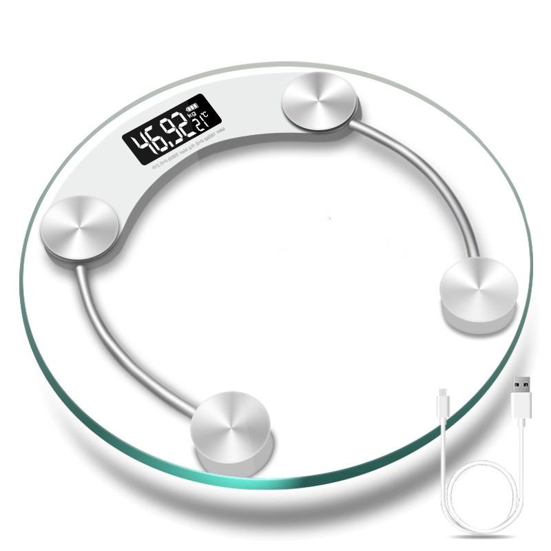 Точные Электронные весы с ЖК дисплеем, 50 г 180 кг, круглые стеклянные электронные весы для тела, измерительные инструменты для взвешивания