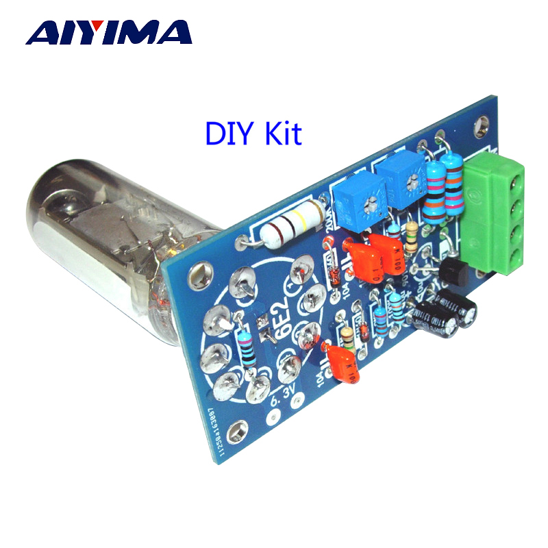 AIYIMA 6E2 Tube Preamplifier Audio Board VU Power Level Driver Board Volume Indication Bile Preamp Vacuum Tone Signal Diy Kits