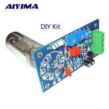 Aiyima 6E2 管プリアンプオーディオボード vu 電源レベルドライバボードボリューム表示胆汁プリアンプ真空トーン信号 diy キット