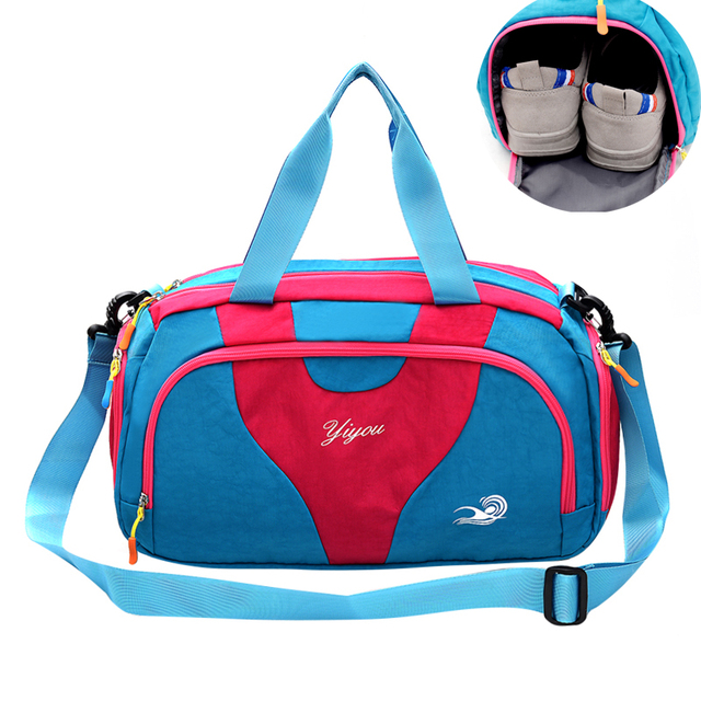 84c348eb83d3 Waterproof Dry Wet Separation Swimming Bag Color Patch Outdoor Sports Beach  Bath Storage Bag For Shoes Women Fitness Bag XA630WD