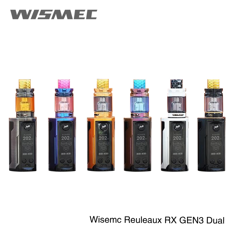 Electronic Cigarettes 2pcs Hottest Wismec Reuleaux Rxgen3 Dual 230w Kit Reuleaux Rxgen3 E Cig Wismec Rx Gen3 Dual Kit With 2ml/ 5.8ml Gnome King Tank Activating Blood Circulation And Strengthening Sinews And Bones Electronic Cigarette Kits