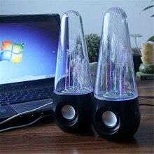 usb powered water dance colorful speaker amplifier music fountain dancing water mini audio loudspeakers all 3.5mm audio pla