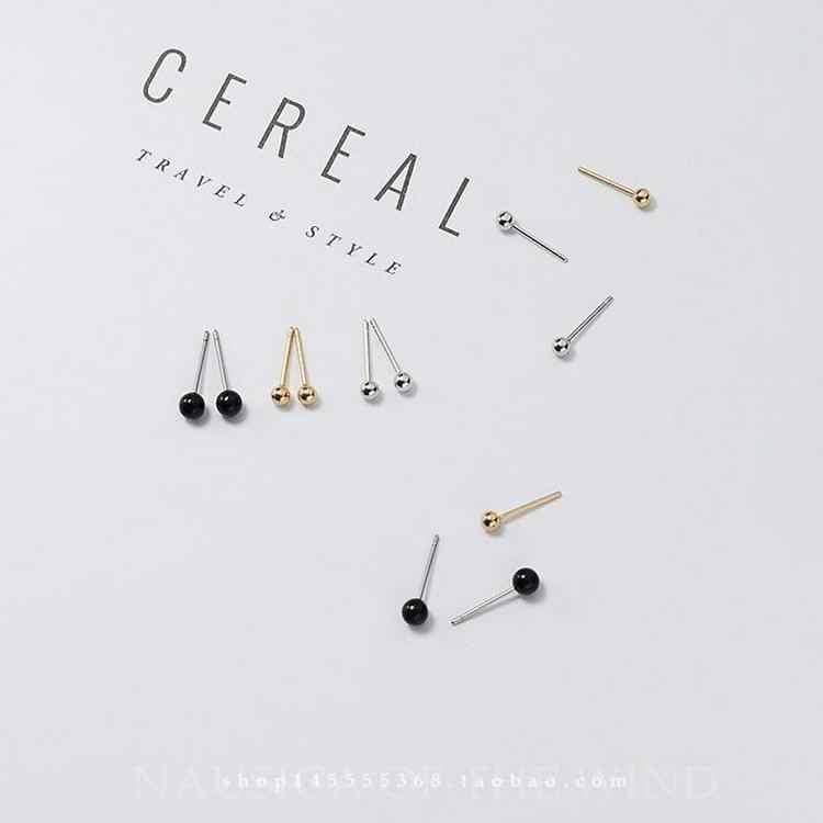 Tai mới Trang Sức Hợp Kim Vàng Bạc Màu Stud Earrings Đối Với Phụ Nữ Femme Thời Trang Vòng Tròn Nhỏ Brincos Quà Tặng Trang Sức Vàng Màu