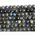 "Atacado AAA Genuíno Natural Blue Labradorite Rodada Contas de Pedra Solta 3-18mm Jóias Fit DIY Colares ou Pulseiras 15 ""02978"