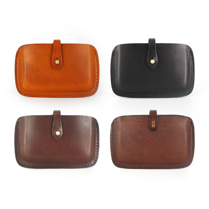 Vintage name card case luxury brand genuine leather business card ...