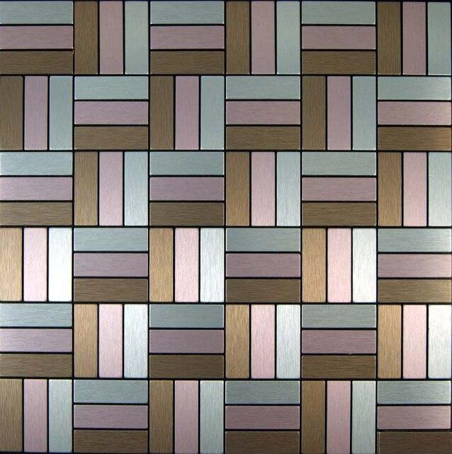 Brown Silver Pink Vinyl Tile 11 Sheets Whole Tiles Self Adhesive Kitchen Backsplash Bathroom