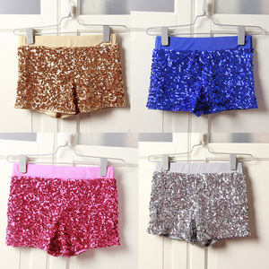 Women Sequins Shorts Elastic Booty Short with High Waist Silver Black Gold Red DS hip hop jazz Sparke Shorts Outfit