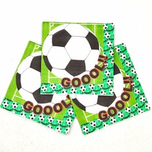 20pc/bag Football Party Supplies Party Supplies Paper Napkin Football Birthday Party Decoration Party Supplies Favors цена