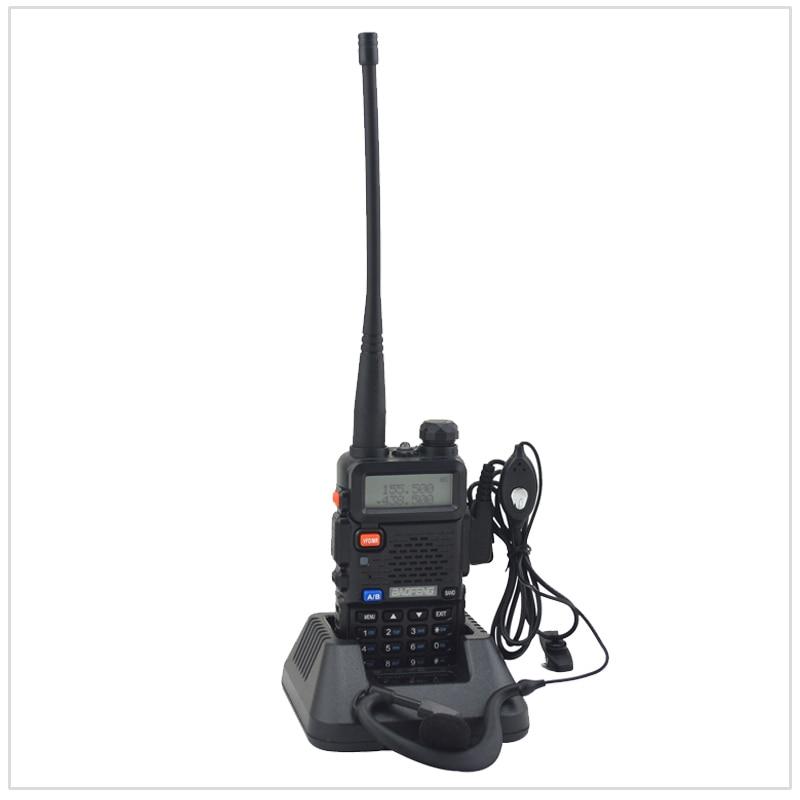 Baofeng bibande UV-5R talkie walkie radio double affichage 136-174/400-520 mHZ radio bidirectionnelle avec l'écouteur libre BF-UV5R