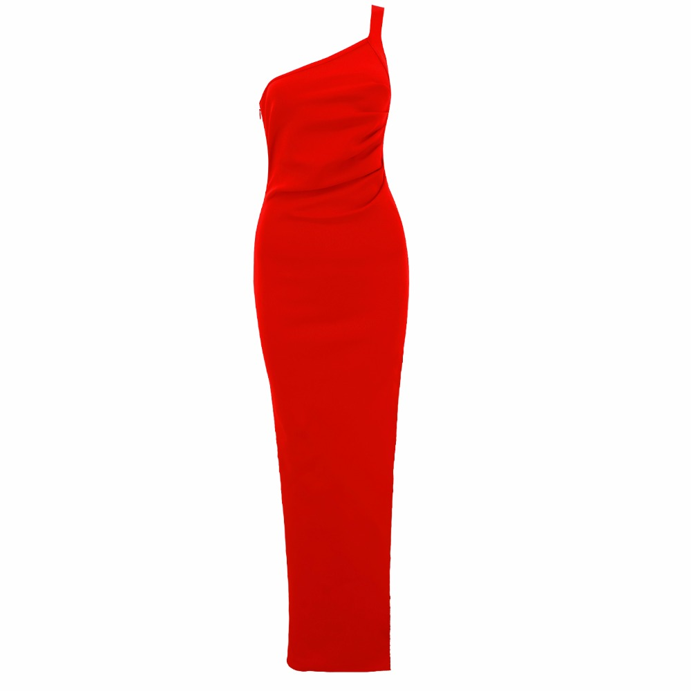 Fourchette Robe Épaule Une De Rouge Long Top Qualité Élégante Bandage Soirée À Ouvert wSxzwXq