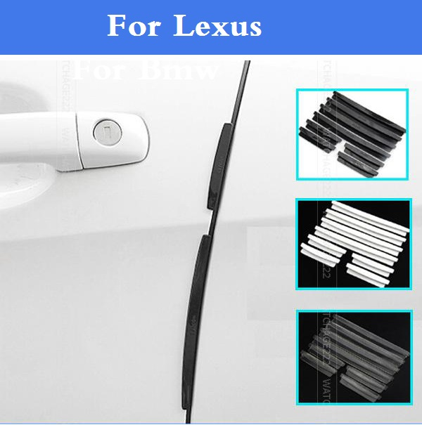 Auto Door Edge Guards Trim Molding Scratch Protector  stickers for Lexus CT ES GS GS F GX HS IS IS F LFA LS LX NX RC RC F RX SC eazyzking stainless steel no drill car styling fuel brake pedal for toyota reiz crown lexus gs is ls lhd auto accessories