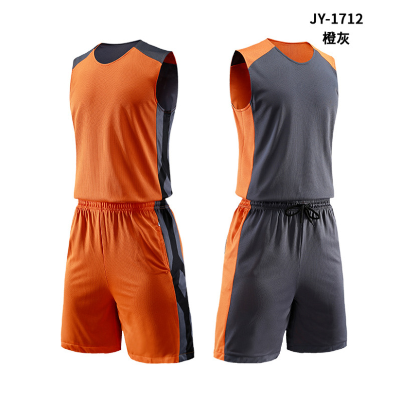 2019 Basketball Uniforms Custom Name Number Men Basketball Jersey Sets Sports clothes Double sided Vest And Shorts in Basketball Jerseys from Sports Entertainment