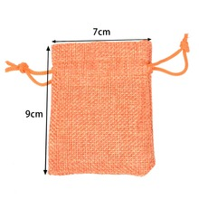 1000pcs 7x9cm/2.7×3.5 inch Jute Hessian Drawstring Wedding Favor Christmas Gift Phone Storage Burlap Jute Bag 16 colors pouch
