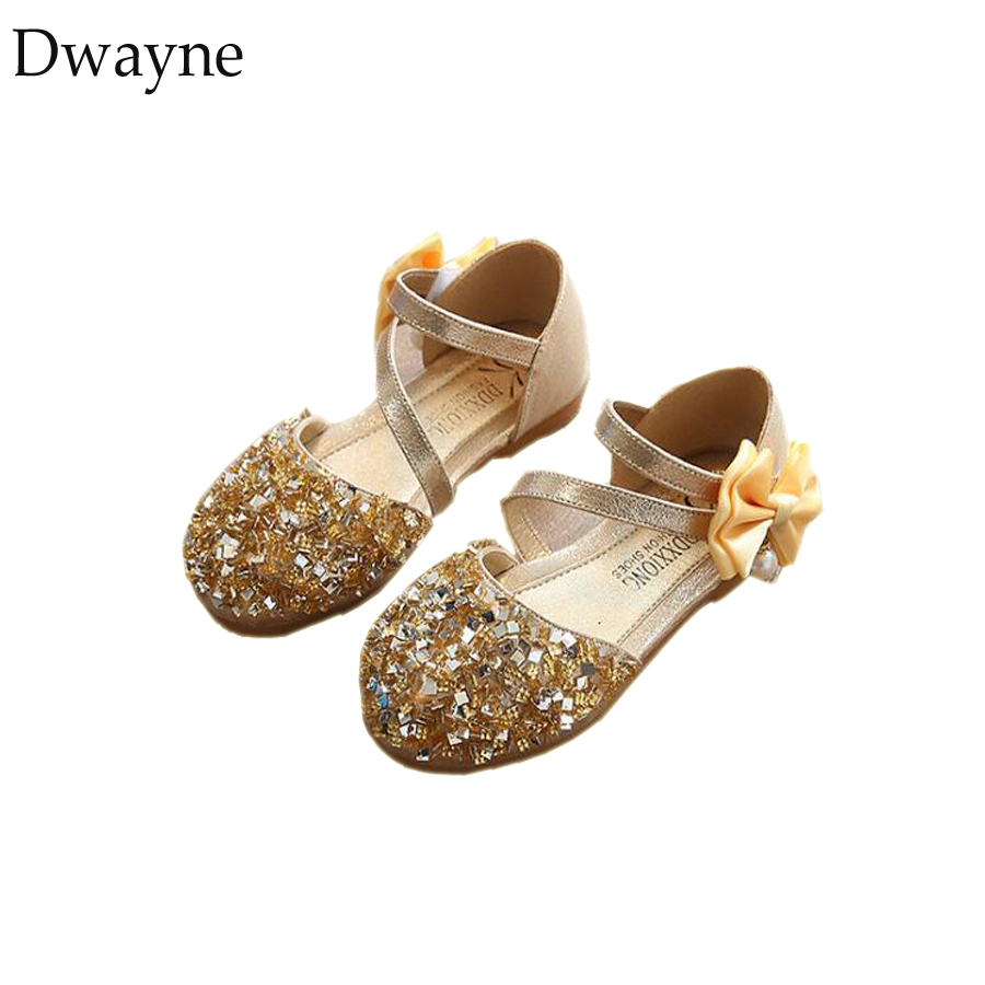 New Arrival Children Kids Princess Shoes Girls Toddler Dance Wedding Flats Shoes