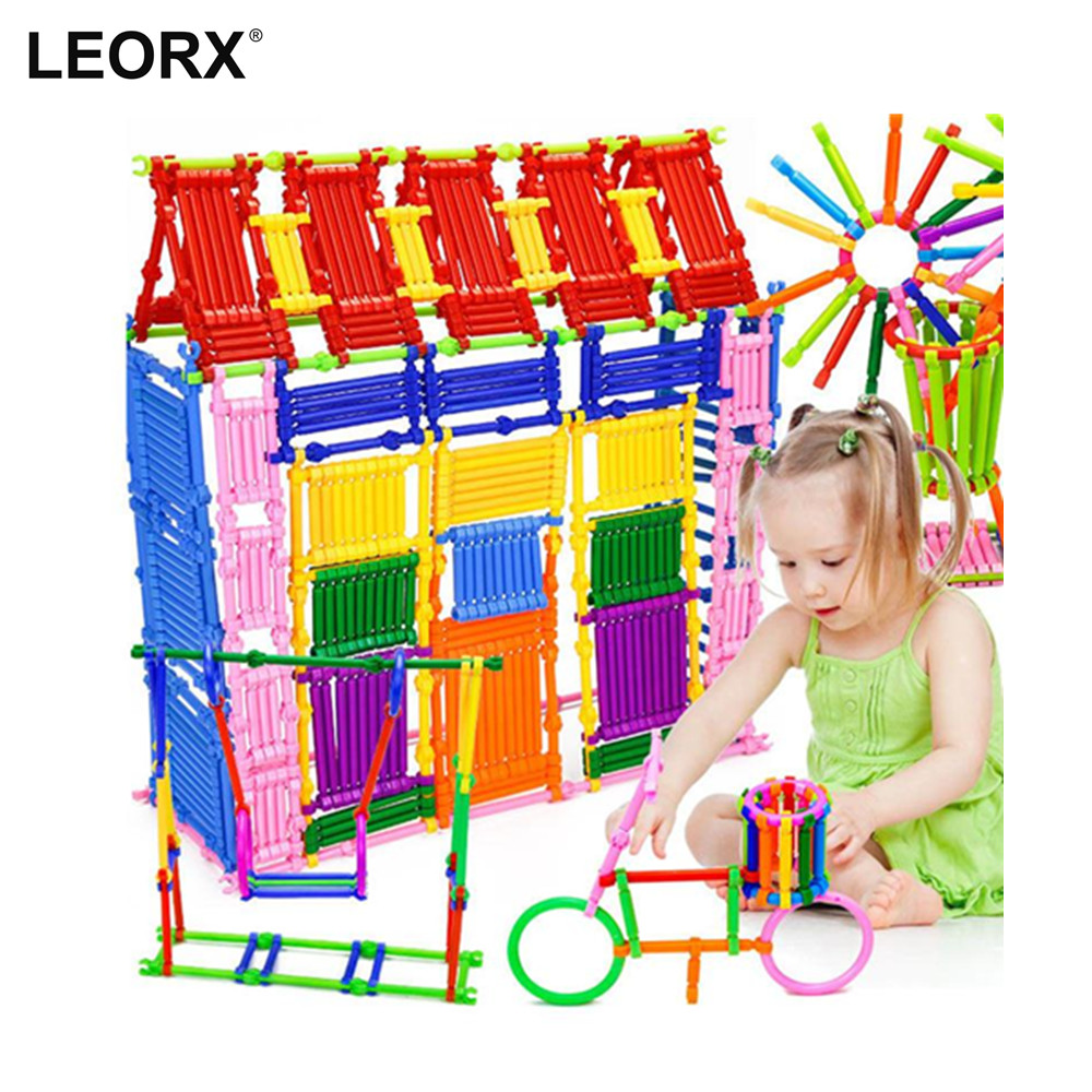 500 Pieces DIY Smart Sticks Building Blocks Creative Intelligence Toys 3D Blocks Educational Toy Set child wooden educational toy city venue building blocks toys 50 pieces a set