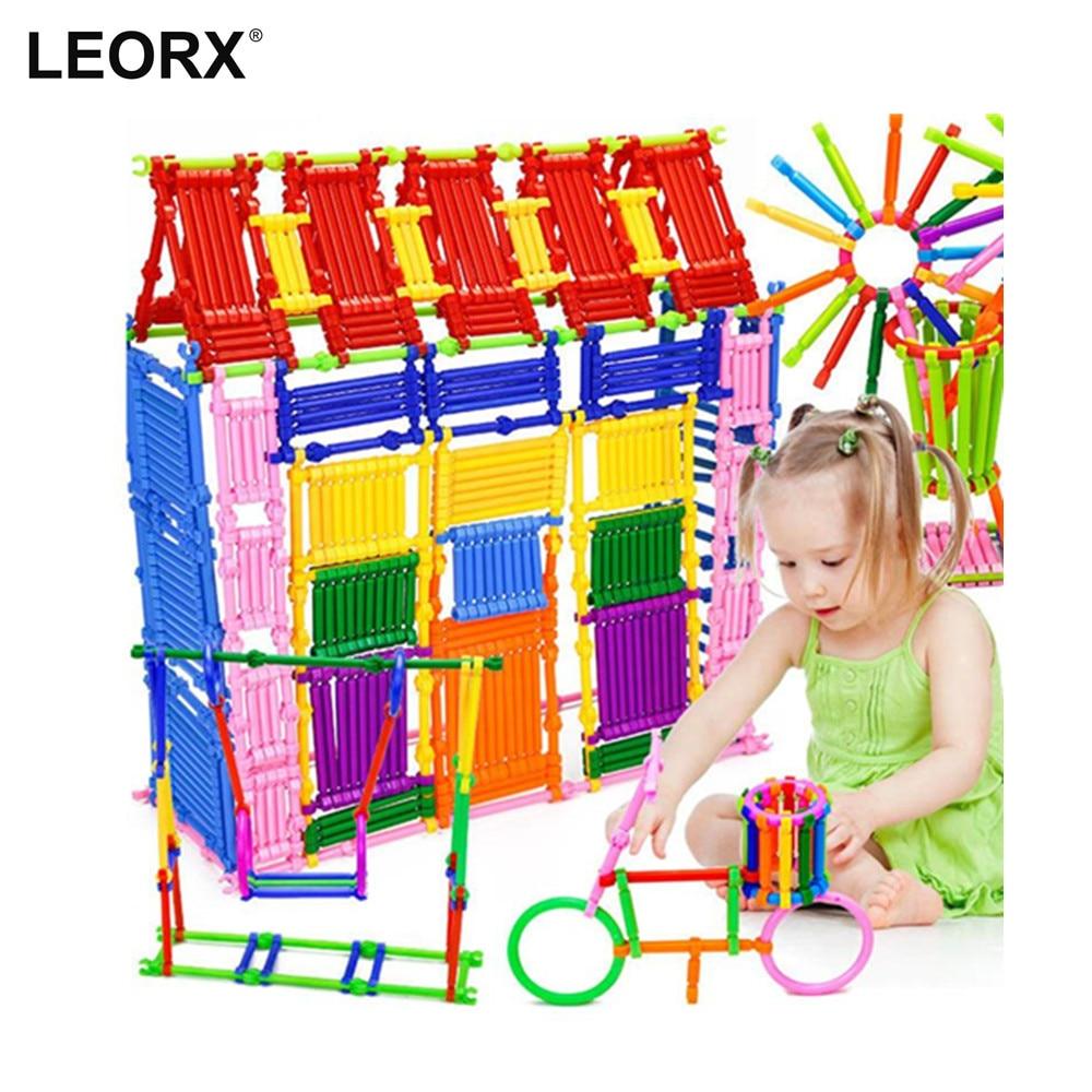 500 Pieces DIY Smart Sticks Building Blocks Creative Intelligence Toys 3D Blocks Educational Toy Set