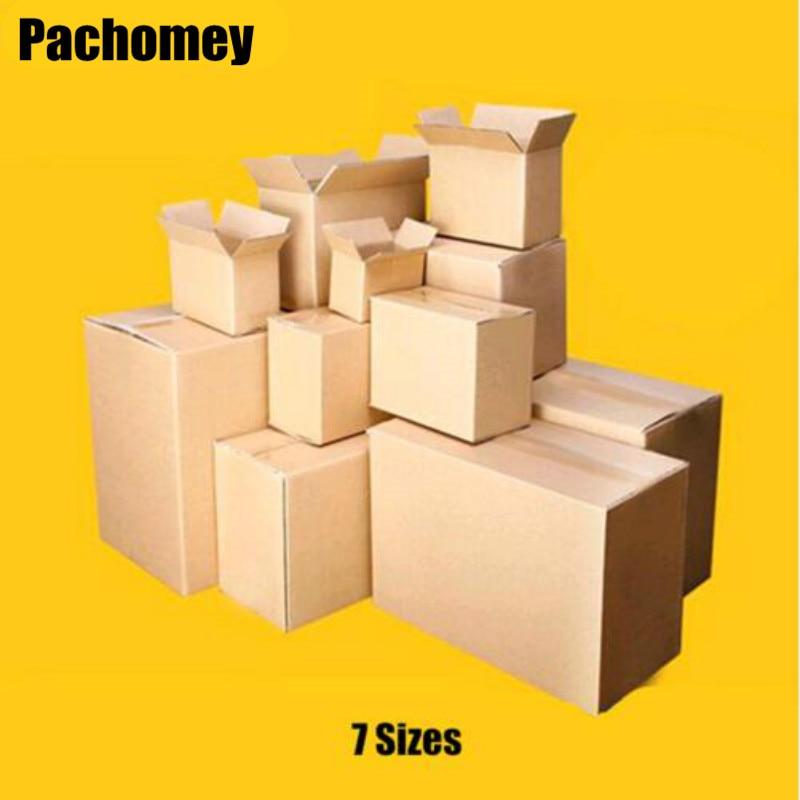 10pcs/lot Wholesale 7 Sizes Kraft Paper Mailing Box Express Transportation Corrugated Packing Box PP071901
