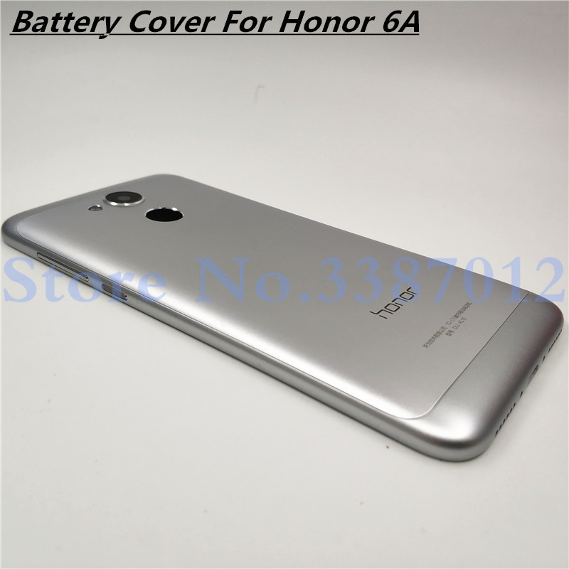 New Battery Metal Aluminum Back Cover For Huawei Honor 6A Housing Case With Camera Lens + Power Volume Buttons